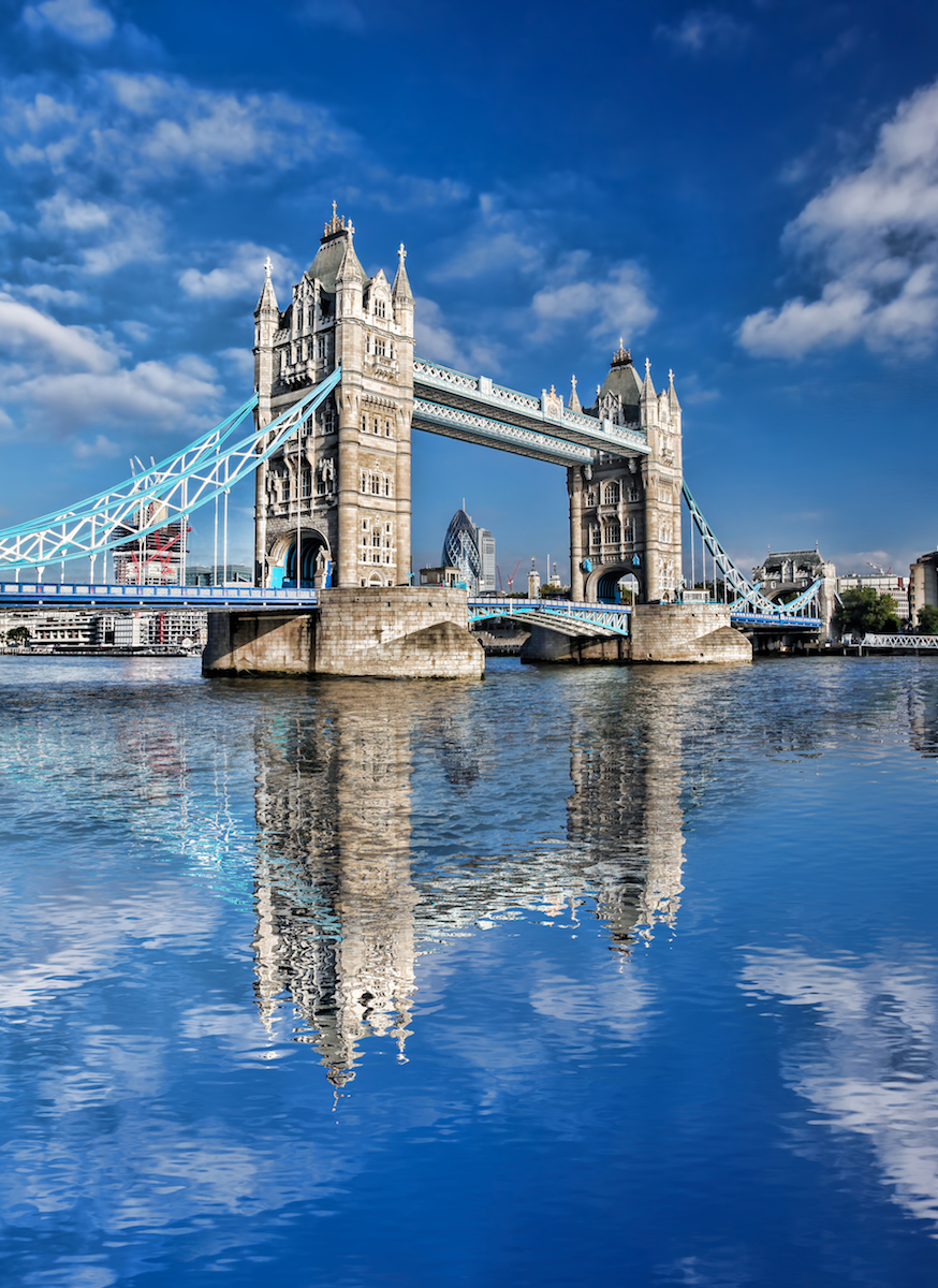 Tower Bridge London mistakenly thought of as the London Bridge