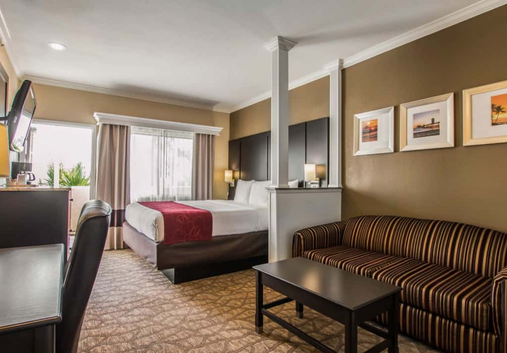 Surf the internet from your room before you hit the surf at the Comfort Suites Huntington Beach, free hotel wi-fi, Traveling Well For Less