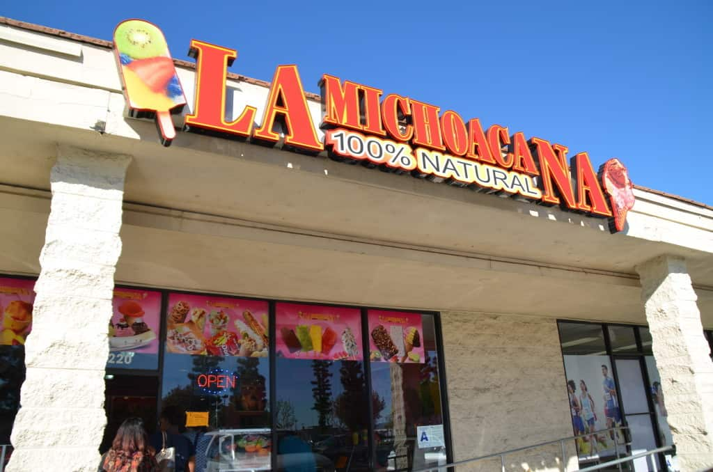 La Michoacana, all natural ice cream and dessert, Hemet, California, where to eat in the San Jacinto Valley, Traveling Well For Less