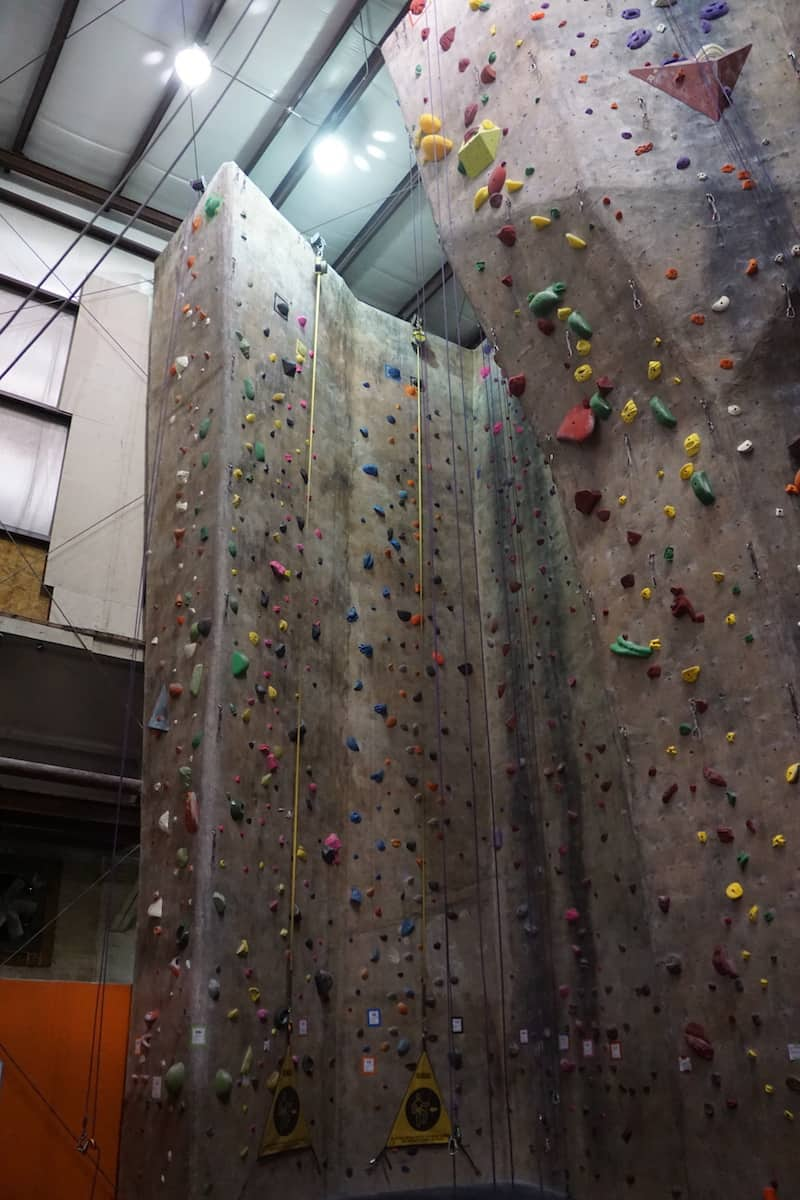 40 foot indoor rock climbing wall with two auto belay devices