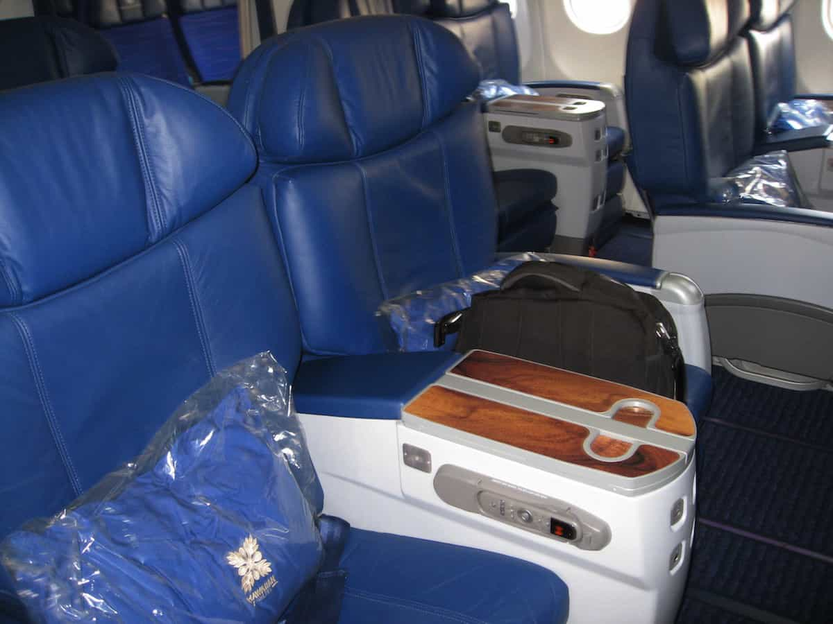 Hawaiian Airlines First Class Honolulu Sydney seats are more like domestic First Class seats. Traveling Well For Less